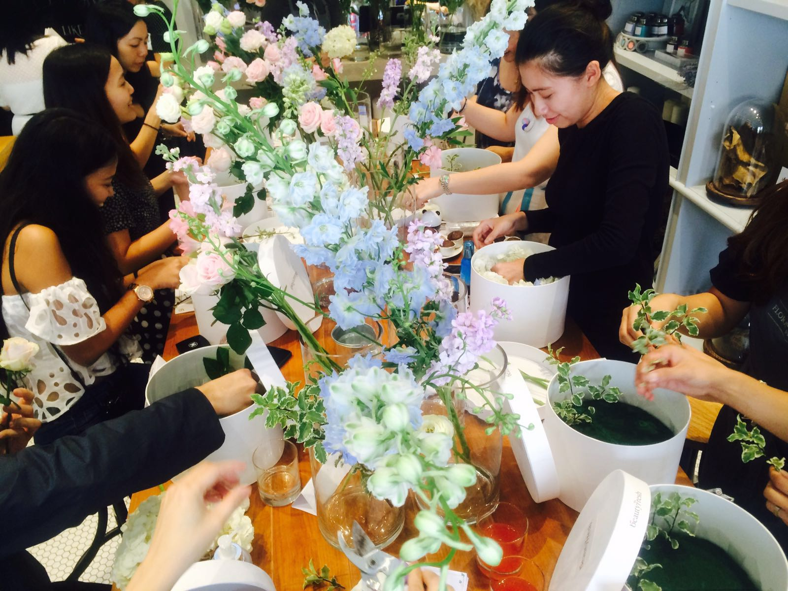 Our florists-to-be in action!